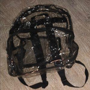 Vintage 90s clear transparent plastic backpack